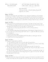 Đề thi HSG cấp tỉnh môn hóa 9-Tỉnh Bình Định (2004-2005)