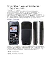 """Những """"bí mật"""" không phải ai cũng biết về điện thoại Nokia (phần đầu) pps"""