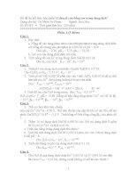 Bộ đề Hoá phân tích 1 (Cân bằng ion trong dung dịch)