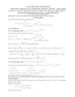Phương pháp giải phương trình, bất phương trình, hệ mũ, lôgarit ppsx