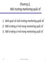 Chương 2- Môi trường marketing quốc tế pps