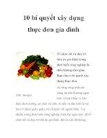 10 bí quyết xây dựng thực đơn gia đình pot