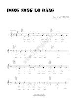 Bài hát dòng sông lơ đãng - Việt Anh (lời bài hát có nốt) ppsx