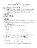 Giáo án ôn thi tốt nghiệp môn toán