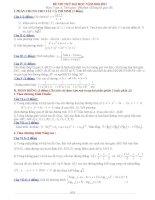 Đề thi thử Đại học môn Toán 2011 (Lần 8) pot