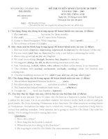 Đề thi vào 10 chính thức số 2 Bắc Giang 2008