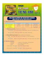 Học nhanh Tiếng Anh Cấp 3 - Clauses pdf