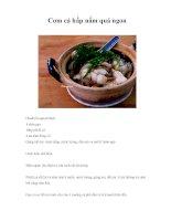 Cơm cá hấp nấm quá ngon pdf