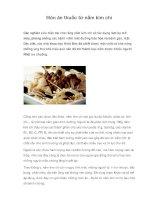 Món ăn thuốc từ nấm kim chi potx
