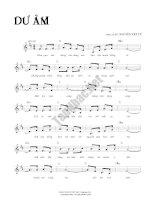 Bài hát dư âm - Nguyễn Văn Tý (lời bài hát có nốt) doc