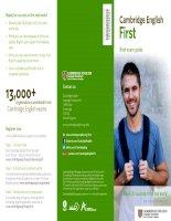 cambridge english first brief exam guide