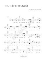 Bài hát thu hát cho người - Vũ Đức Sao Biển (lời bài hát có nốt) pptx
