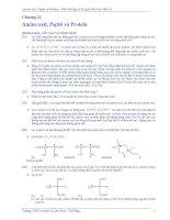 Amino axit, Peptit và Protein - 3000 bài tập hóa học có lời giải hóa học hữu cơ ppsx
