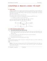 Bài Giảng Kỹ Thuật Số CHƯƠNG 3. MẠCH LOGIC TỔ HỢP pps