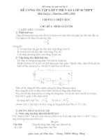 Đề cương ôn thi lý 9 ( Lý thuyết + Bài tập)