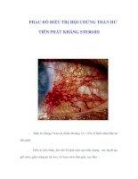 PHÁC ĐỒ ĐIỀU TRỊ HỘI CHỨNG THẬN HƯ TIÊN PHÁT KHÁNG STEROID doc