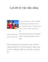Lợi ích từ việc tắm nắng pdf
