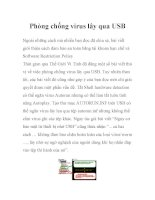 Phòng chống virus lây qua USB pot