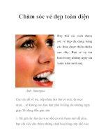 Chăm sóc vẻ đẹp toàn diện pdf