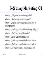 Chương 1- Nội dung Marketing QT pptx