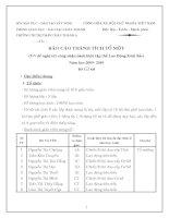 Báo cáo thành tích tổ 09-10