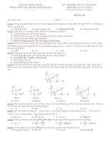 Đề kiểm tra môn lý lớp 10