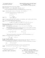 Đề thi thử ĐH & CĐ ( lần I ) năm học 2009 - 2010 Môn Toán khối A và đáp ánMôn thi: Toán