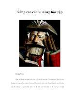 Nâng cao các kĩ năng học tập pdf