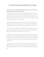 5 cách để việc giảm cân dễ chịu hơn với bạn pdf