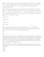70 bài tập trắc nghiệm vật lý phần điện, sóng, dao động hay và khó, có đáp án
