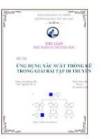 Ứng dụng xác suất thống kê trong giải bài tập di truyền