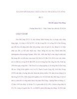 XOA BÓP ĐỂ GIẢM ĐAU THẮT LƯNG DO THOÁI HÓA CỘT SỐNG (Kỳ 1) potx