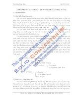 Chương 3: Các thiết bị động lực trong nhà máy thủy điện - Phần 1 pot