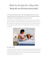 Thuốc hạ sốt, giảm đau, chống viêm: Dùng thế nào để không thêm bệnh? potx