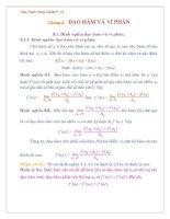 Chương 3: ĐẠO HÀM VÀ VI PHÂN pdf