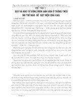 SÁNG KIẾN KINH NGHIỆM DẠY VÀ HỌC TỪ VỰNG MÔN ANH VĂN Ở TRƯỜNG THCS NHƯ THẾ NÀO  ĐỂ  ĐẠT HIỆU QUẢ CAO