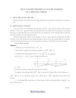 Biện luận số nghiệm bằng đồ thị (CĐ 7)