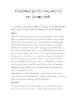 Dùng thuốc lợi tiểu trong điều trị suy tim mạn tính pdf