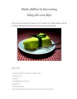 Bánh chiffon lá dứa nướng bằng nồi cơm điện pdf
