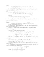phương trình bậc hai luyện thi vào 10