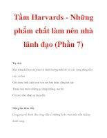 Tầm Harvards - Những phẩm chất làm nên nhà lãnh đạo (Phần 7) docx