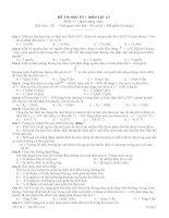 Đề kiểm tra 45 phút học kì II
