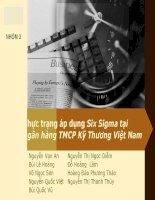 Thực trạng áp dụng Six Sigma tại ngân hàng TMCP Kỹ Thương Việt Nam