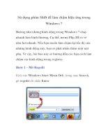 Sử dụng phím Shift để làm chậm hiệu ứng trong Windows 7 ppsx