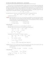 giai bai tap theo Phuong Phap Ion- electron