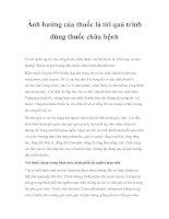 Ảnh hưởng của thuốc lá tới quá trình dùng thuốc chữa bệnh docx