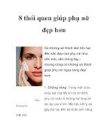 8 thói quen giúp phụ nữ đẹp hơn potx