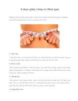 6 mẹo giúp vòng eo thon gọn pot