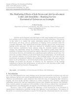 Tài liệu tiếng anh tham khảo the mediating effects of job stress and job involvement