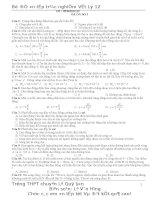 10 đề thi thử đại học môn Vật lý cực hay